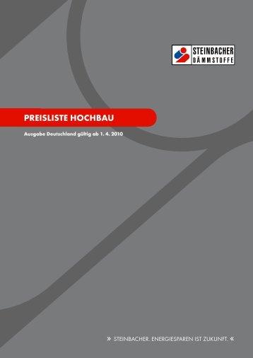 PREISLISTE HocHbau - Steinbacher Dämmstoffe