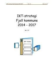 IKT-strategi 2013-2016 Ver 1 0 - Fjell kommune
