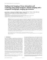 Spatial frequency domain imaging