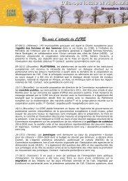 Un mois d'activités du CCRE L'Europe locale et régionale