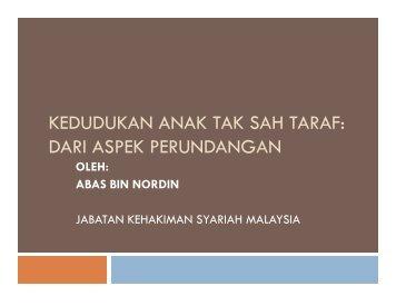 kedudukan anak tak sah taraf - Jabatan Kemajuan Islam Malaysia