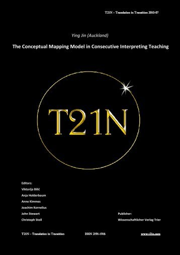 The Conceptual Mapping Model in Consecutive Interpreting Teaching