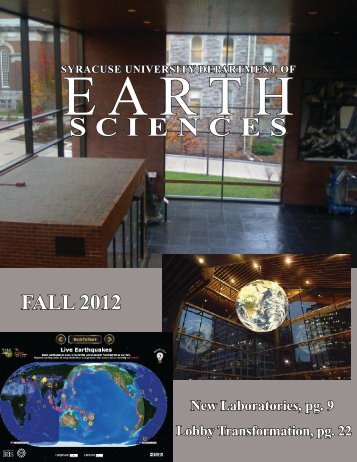 Department Newsletter - Syracuse Universe Department of Earth ...