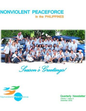 Season's Greetings! - Nonviolent Peaceforce