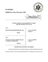 05-42351 Ronald Edward Henderson et al - US Bankruptcy Court