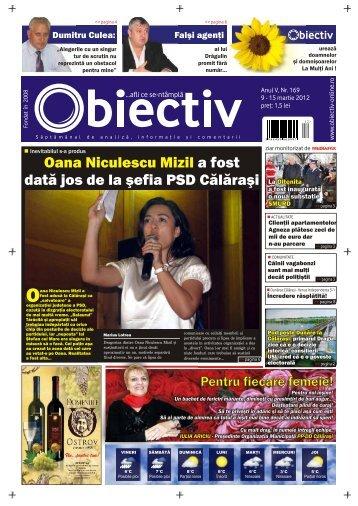 Oana Niculescu Mizil a fost datã jos de la ºefia PSD Cãlãraºi - Obiectiv