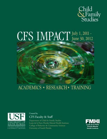 Impact Report - Child & Family Studies - University of South Florida