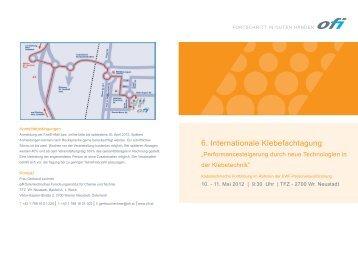 Einladung ofi Klebefachtagung - beim TFZ Wiener Neustadt