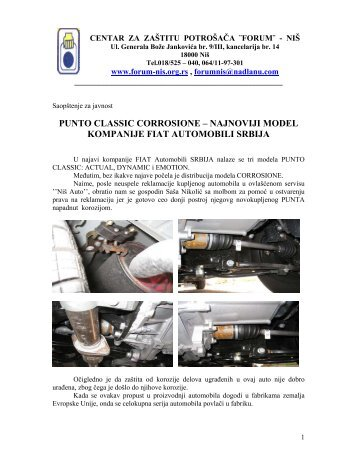 PUNTO CLASSIC CORROSIONE – NAJNOVIJI MODEL KOMPANIJE FIAT ...