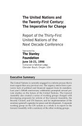 The United Nations and the Twenty-First Century - The Stanley ...