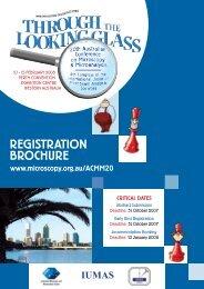 RegistRation BRochuRe - Australian Microscopy and Microanalysis ...