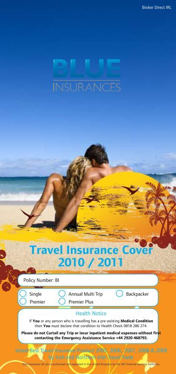 View Policy Document [PDF] - Blue Insurances