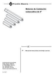 Motores de instalaciòn subacuática de 4