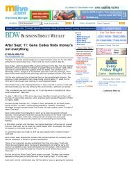 After Sept. 11: Gene Codes finds money's not ... - Jonhoyle.com
