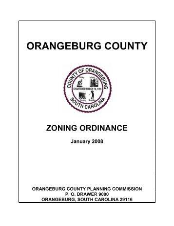 Zoning Ordinance - Orangeburg County