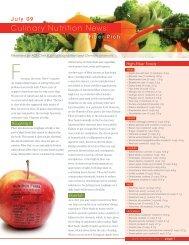 Culinary Nutrition News: - American Culinary Federation