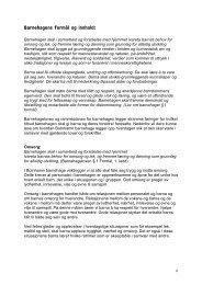 Barnehagens formål og innhold: - Lenvik kommune