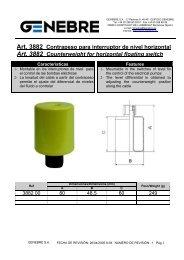 Art. 3882 Contrapeso para interruptor de nivel horizontal Art ... - TDM