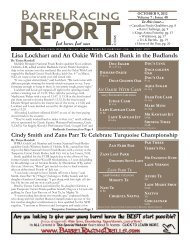 Lisa Lockhart and An Oakie With Cash Bank - Barrel Racing Report