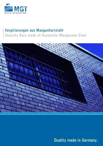 Mangangitter - MGT GmbH