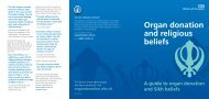 Sikh beliefs and organ donation
