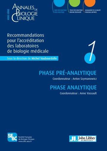 """1 - Site du groupe SFBC """"Accréditation des laboratoires de"""