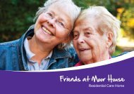 Download a brochure - Friends of the Elderly