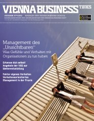 "Management des ""Unsichtbaren"" - Vienna Business School"