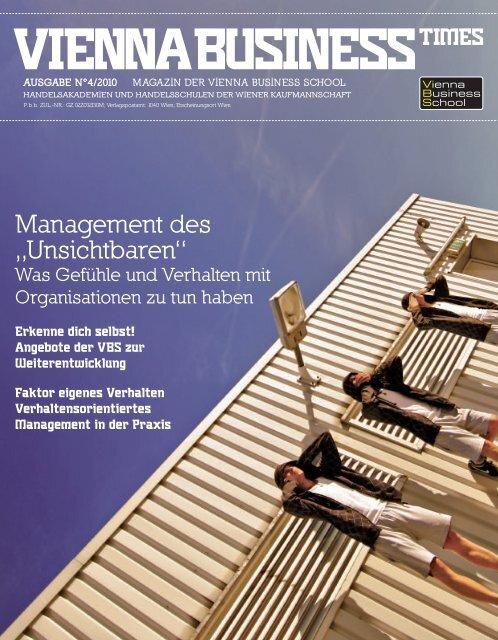 """Management des """"Unsichtbaren"""" - Vienna Business School"""