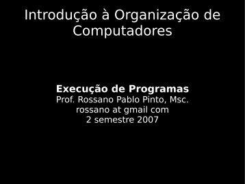 Introdução à Organização de Computadores - Rossano.pro.br