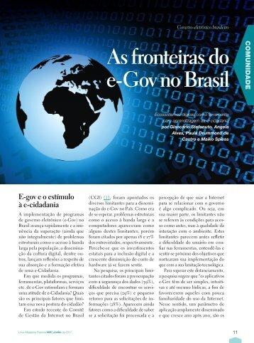 As fronteiras do e-Gov no Brasil.pdf - Sistema Eletrônico de ...