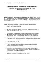 Umowa licencyjna użytkownika oprogramowania Publiker Klient dla ...