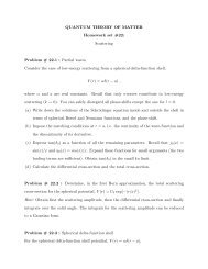 QUANTUM THEORY OF MATTER Homework set #22 - FSU Physics ...