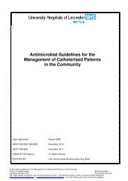 Antimicrobial Guidelines for the Management of Catheterised ...