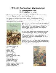 'Battle Notes for Wargamers' book - Lone Warrior Blog