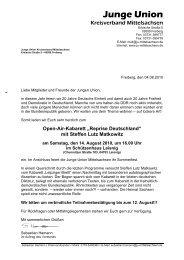 Sommerfest der JU Mittelsachsen mit Open-Air-Kabarett - CDU Leisnig