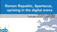 Roman Republic, Spartacus, uprising in the digital ... - IAB Community