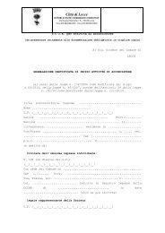 SCIA Acconciatore - Comune di Lecce