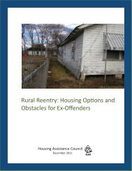 Rural Reentry - Housing Assistance Council