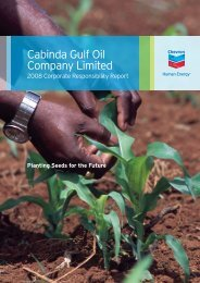 Cabinda Gulf Oil Company Limited: 2008 Corporate ... - Chevron