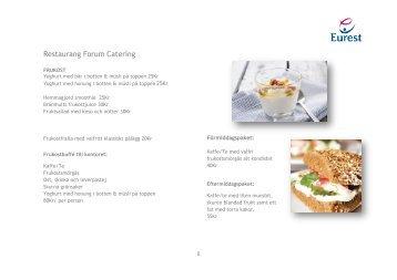 Restaurang Forum Catering - Kvartersmenyn.com