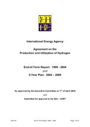 International Energy Agency Agreement on the Production and ...