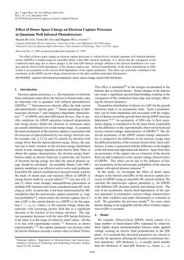 Effect of Donor Space Charge on Electron Capture Processes in ...