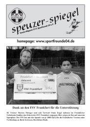 homepage: www.sportfreunde04.de - Speuzer in Bildern