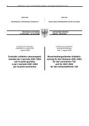 KOLLEKTIVVERTRAG vom 1. August 2002 - Provincia Autonoma di ...