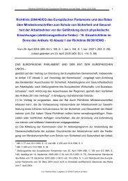 Richtlinie 2004/40/EG über Mindestvorschriften zum Schutz von ...
