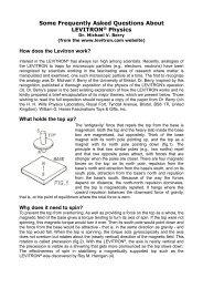 Levitron Physics - Prof Bunsen