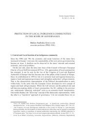 ProtectIon of locAl IndIgenouS communItIeS In the ScoPe of ... - IAS
