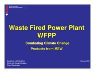 Waste Fired Power Plant WFPP
