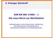 DIN EN ISO 17665 – 1 Die neue Norm zur Sterilisation - Akademie